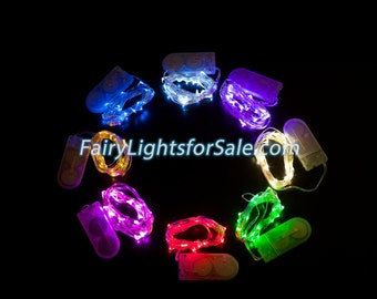 2m/6.6ft 5+ sets 20 micro LED Fairy Lights String Strand CR2032 Button Battery for Costume, Wedding, Centerpiece, Vase, Rave, Outdoor, Party