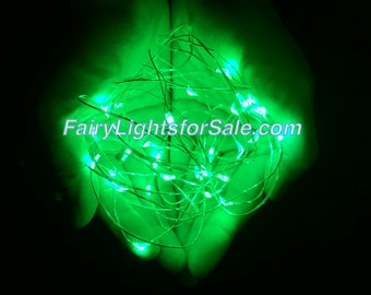 2m/6.6ft 5+ sets Green 20 LED fairy light string strand button battery for DIY, centerpiece, wedding, costume, rave, EDM, party, outdoor