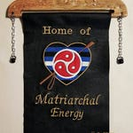 Personalized  embroidered BDSM wall banner with crop & BDSM emblem