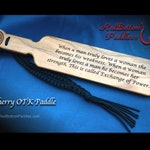 Cherry OTK Paddle Engraved makes a Special Gift or Remembrance