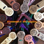 Personalized Custom Stinger Flogger with choice of wood, color of fall and pummel design
