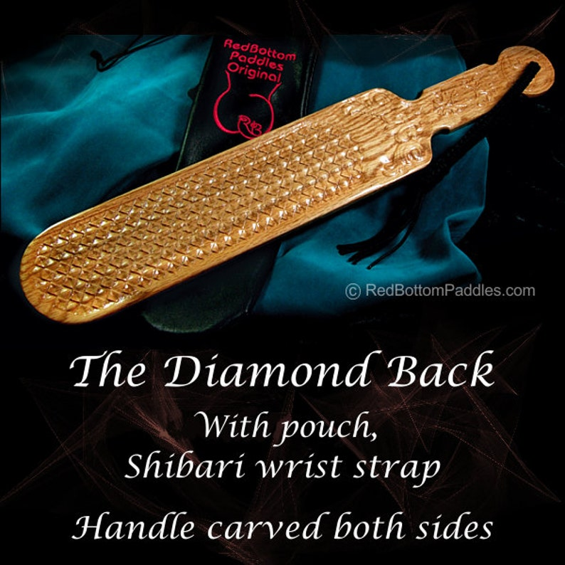 The Diamond Back includes Black Leather Look Pouch & Shibari image 0