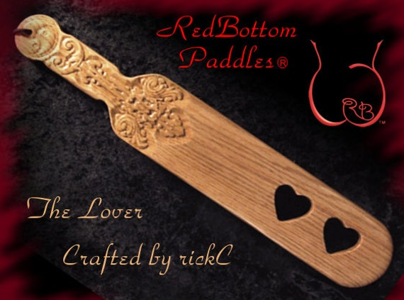 BDSM spanking paddles cut through hearts, a great mature BDSM gift for Mistress or Master