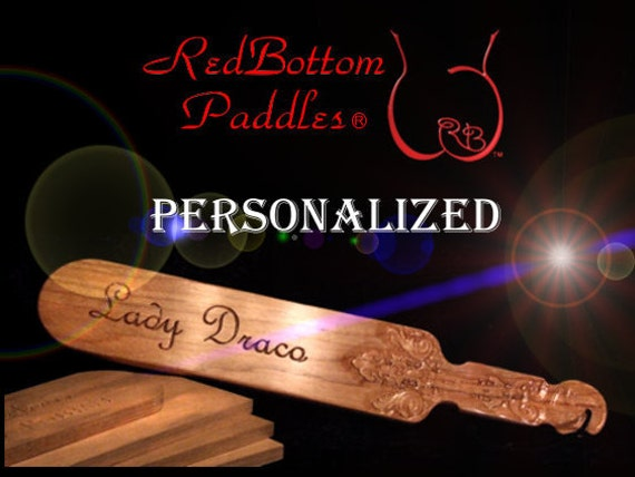 "Classic spanking paddle  20"" x 3.5"" x 1/2"" carved with your name and/or phrase. INCLUDED: Leather look pouch, 0ffering class & protection.."