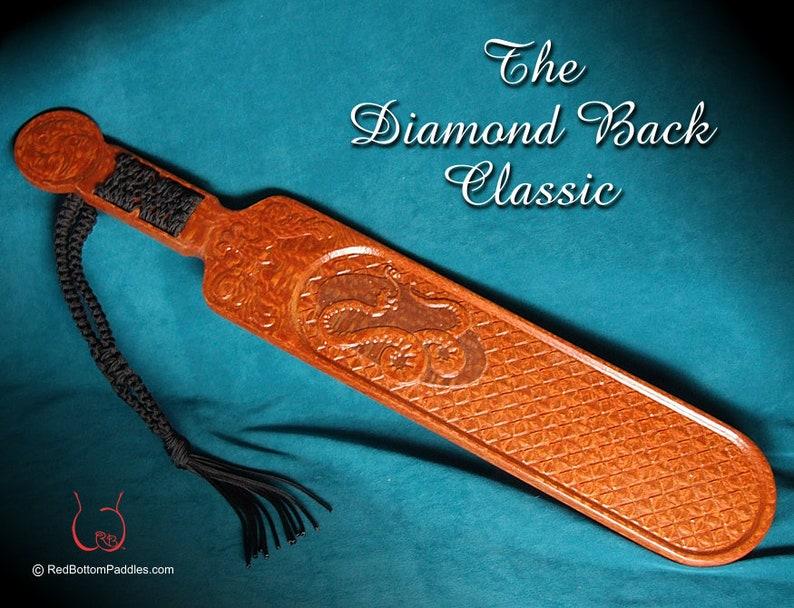 Spanking Paddle Classic Diamond Back image 0