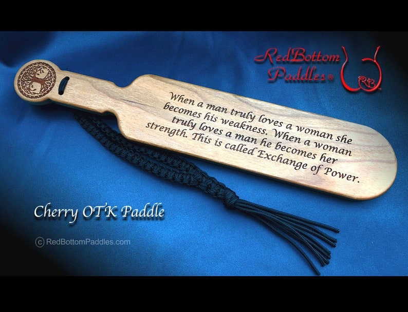 Cherry OTK Paddle Engraved makes a Special Gift or Remembrance image 0