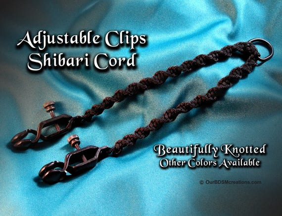 Nippy Clips, knotted together for Mistress or Master Pleasure