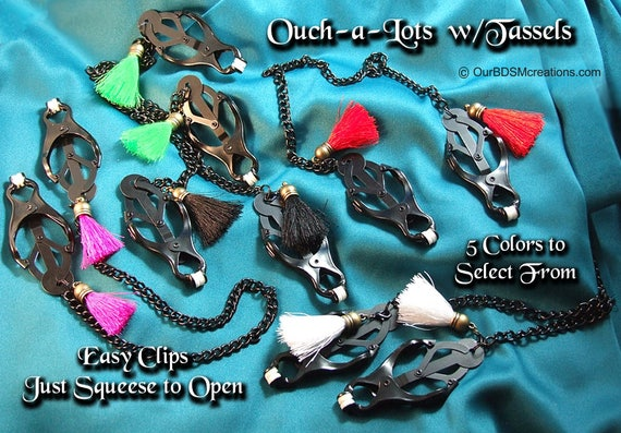 Ouch-a-Lot clips. For Mistress, Master, Submissive, a pleasurable gift.