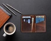 Personalized Minimalist Leather Wallet, Anniversary Gift for Boyfriend, Leather Slim Bifold Wallet, Groomsmen Wallet