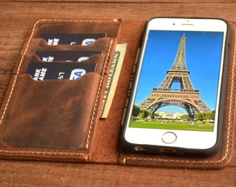 iPhone 8, iPhone 8 PLUS, iPhone X, iPhone 10, iPhone XS MAX, iPhone 11 Pro Wallet, Leather iPhone Case, Distressed Leather Case, cover