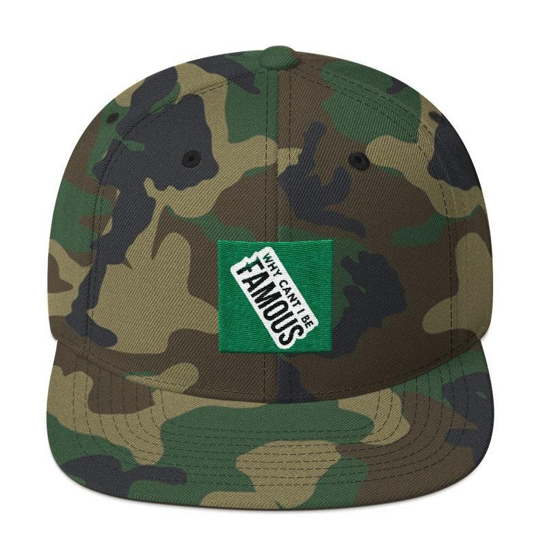 2bb3116d6ba Famous Snapback Hat Camo