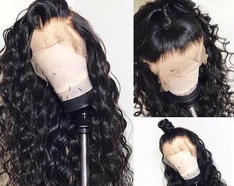 Long Black Curly Glueless Full Lace Human Hair Wigs For Women Pre-plucked Lace  Wigs Bleached knots Wigs On Sale FR CA US bc4b3bd01