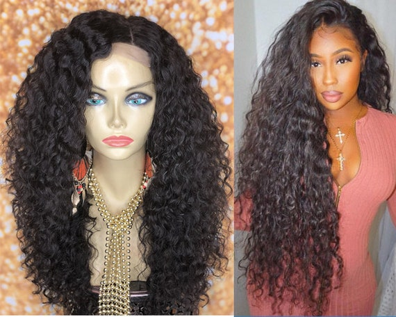 Curly Human Hair Full Lace Wigs For Women Pre Plucked With  cb0f93e43d