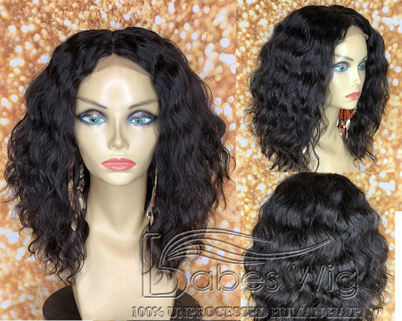 Kim kardashian Short Curly Lace Front Human Hair Wigs for  56a468280c