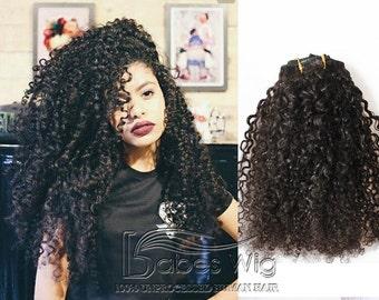 Cheap Remy Human Hair Curly Clip in Hair Extensions UK Brazilian Best Hair Extensions Clip in Extensions