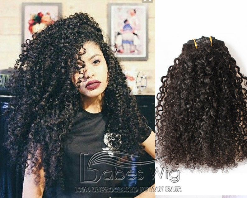 Cheap Remy Human Hair Curly Clip in Hair Extensions UK  78725b5a5