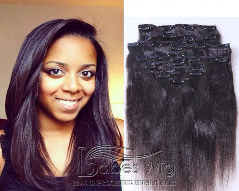 100% real human hair extensions clips in