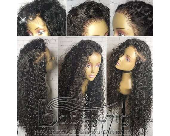 Natural looking loose wave lace front human hair wigs bleached knots US UK a3ad69404
