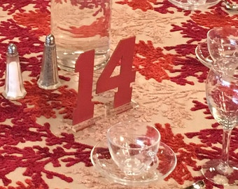 Varsity - SPORT - Cut Table Numbers - Customized to your color - Bar Mitzvah - Birthday