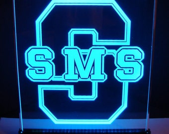 LARGE Glowing Centerpiece - Bar Mitzvah - Corporate  - CHANGING Color LED light base