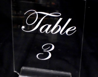 Table Number --engraved your way