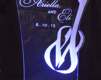 LARGE Glowing Centerpiece - Wedding - Bar Mitzvah - Corporate logos - ILLUMINATED