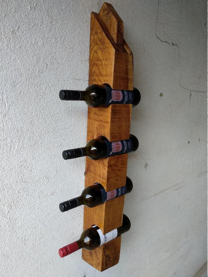 Support A Bouteille De Vin Mural support mural vin pour quatre bouteilles (chênes de la maison de chêne)