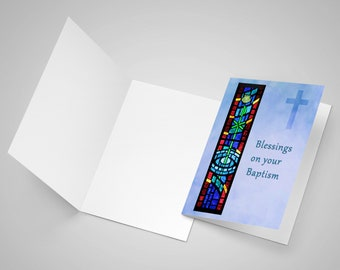 Baptism Stained Glass Note Card