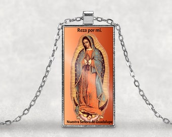 Our Lady of Guadalupe - Nuestra Señora de Guadalupe - Pendant with chain FREE SHIPPING