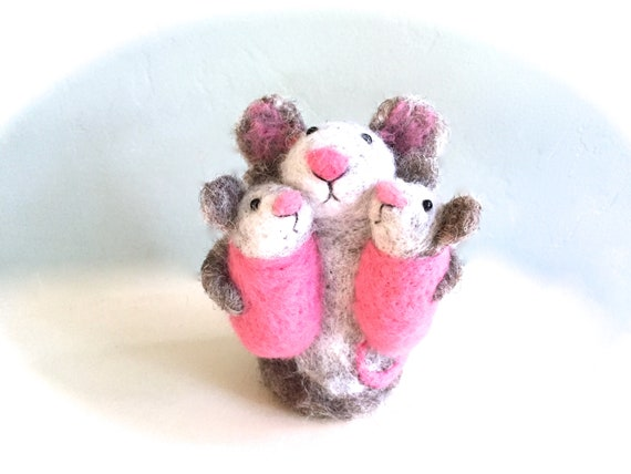 Twin Girls Baby Shower Twin Cake Topper Needle Felted Animals Etsy