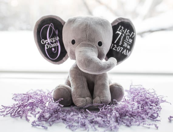 Personalisierte Baby Geschenk Neue Baby Geschenk Erste Weihnachtsgeschenk Geburt Stat Elefanten Baby Dusche Geschenk Baby Mädchen Geschenk Baby