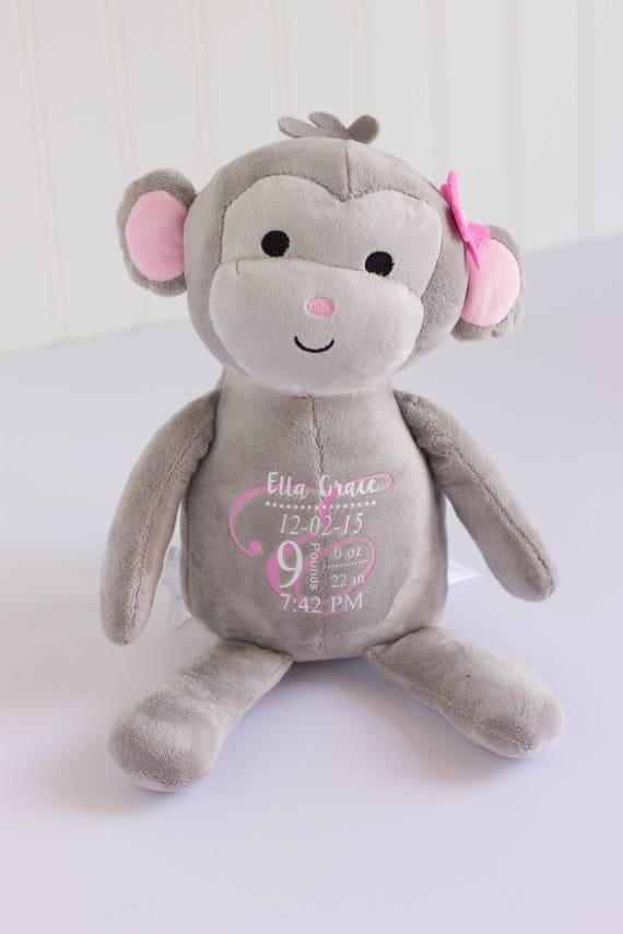 Plüsch-Affen Baby-Dusche-Geschenk Baby-Mädchen-Geschenk | Etsy