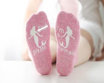 Mermaid Socks, Novelty Socks, funny socks, custom socks, mothers day gift, gift for mom, mature