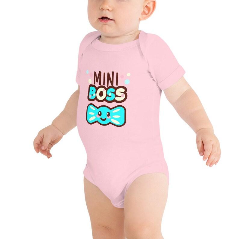 Mini Boss Bow Tie Baby Bodysuit