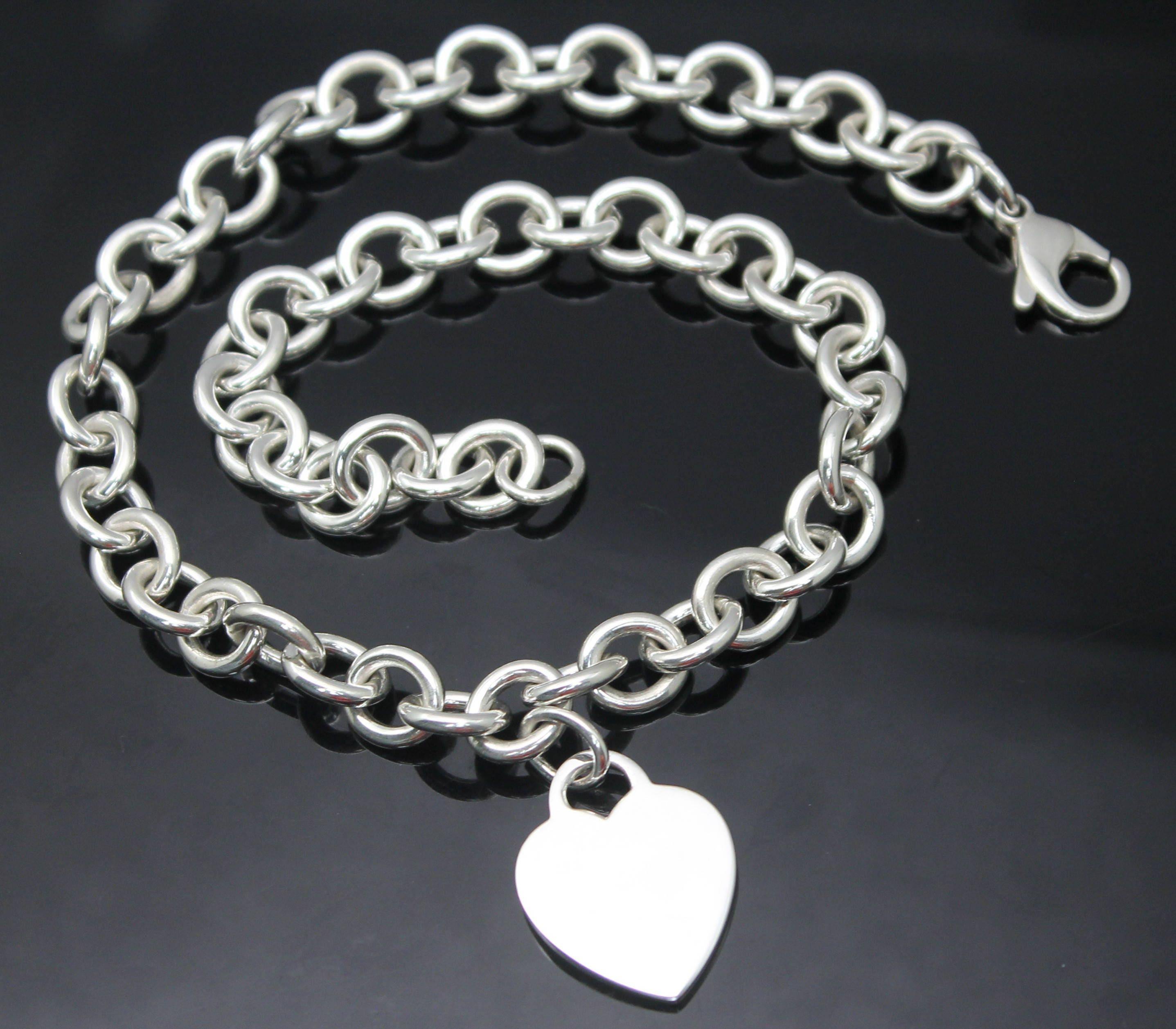 f764335e3 GIFT IDEA Authentic Tiffany & Co Signature Large Heart Tag | Etsy