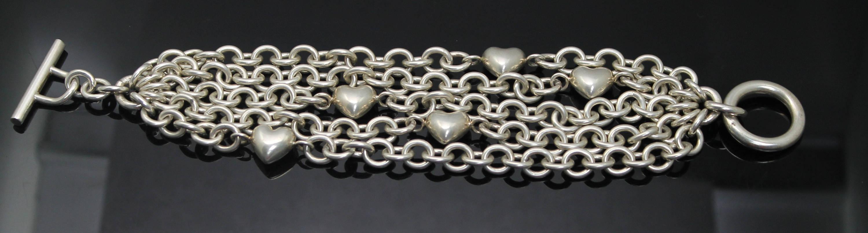 203dea6f6 GIFT IDEA Authentic Tiffany & Co 5 Row Cable Hearts Toggle | Etsy