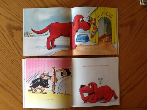 Excellent Clifford The Big Red Dog Set Of 2 Childrens Books Cliffords Christmas And Cliffords Riddles Very Good Condition Machost Co Dining Chair Design Ideas Machostcouk