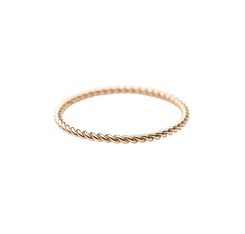 Simple Gold Ring Gold Band Ring Gold Stacker Womens Gold Ring 14k Gold Filled Ring Holiday Gift Gold Twist Ring Delicate Ring