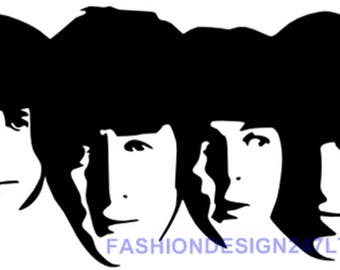 beatles stencil etsy