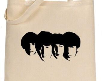 Rare Beatles print project makeup craft bag