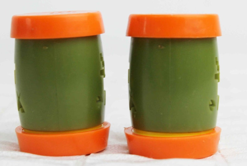 St Labre Indian School Salt Pepper Shakers Montana Orange Green Native