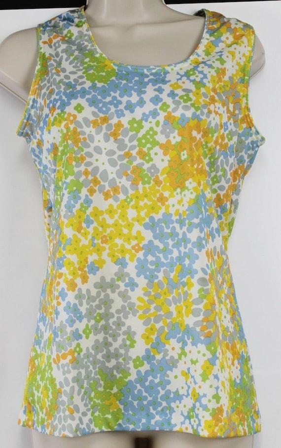 Shirt Jeffery Richards 70s Polyester Tank Shirt B… - image 6