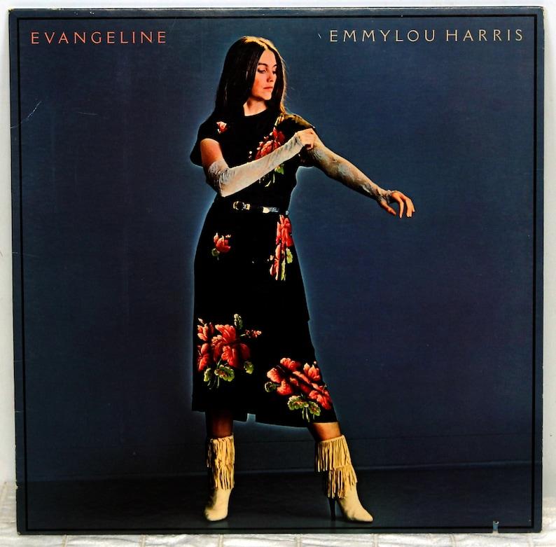 Vintage 1981 Emmylou Harris Evangeline 12 Vinyl Album LP image 0