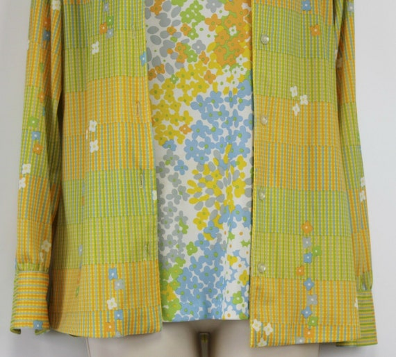 Shirt Jeffery Richards 70s Polyester Tank Shirt B… - image 3