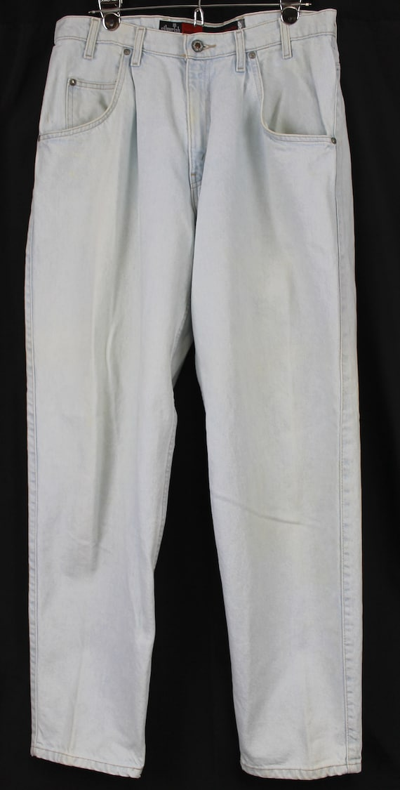Levis Mens Silver Tab Jeans 34*32 Loose Light Wash