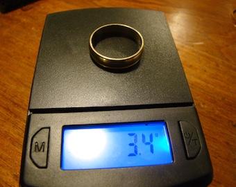 "Solid 14K Yellow Gold ""Circle of Love"" Wedding Band Ring~Sz 9~3.4g"