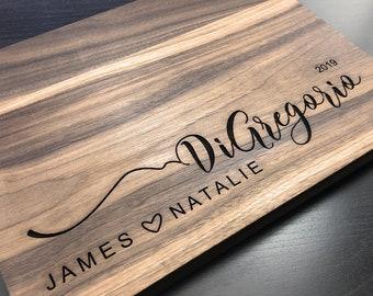 Personalized Cutting Board, Cutting Board, Wedding Gift, Housewarming Gift, Engagement Gift, Fast Shipping, Wedding Anniversary Gift