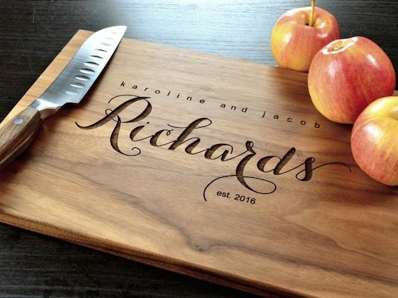 Wedding Gift Cutting Board: Personalized Cutting Board Custom Cutting Board