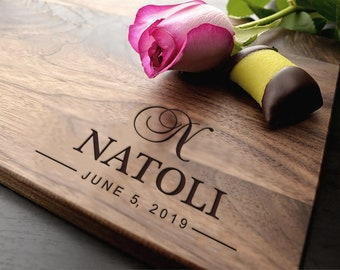 Personalized Cutting Board , Housewarming Gift, Walnut Cutting Board, Custom Cutting Board, Wedding Gift, Anniversary Gift