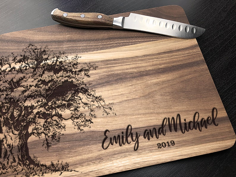 Personalized Wedding Gift Personalized Custom Cutting Board image 0